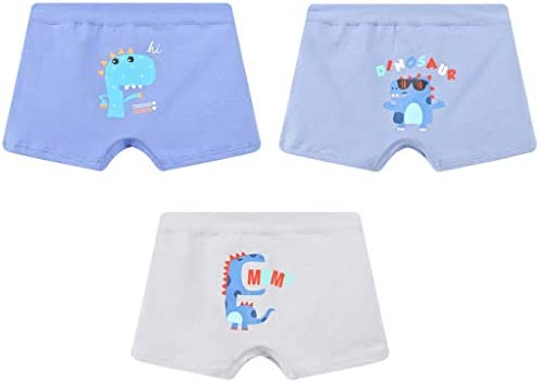 パンツ 男の子 パンツ ボーイズパンツ 下着 3枚セット 恐竜柄 キッズ 綿 下着 子供 幼児 小学生 保育園 2-14歳選択可
