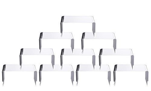 - 10 PCS Clear Acrylic Display Risers Showcase for Jewelry 4