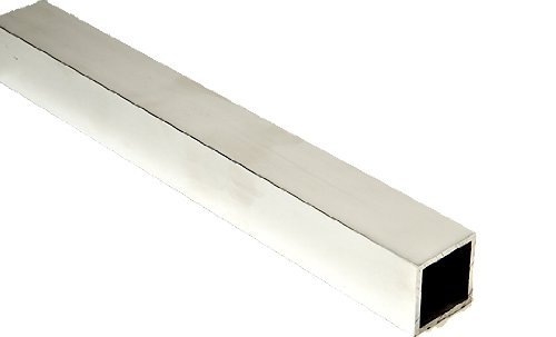 RMP 6063 Aluminum Square Tubing, 2 Inch x 2 Inch x 1/8 Inch Wall, 48 Inch Length, Unpolished (Mill) Finish, T52 Temper by RMP