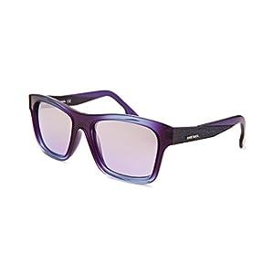 Diesel Eyewear Square Sunglasses (Purple and Blue)