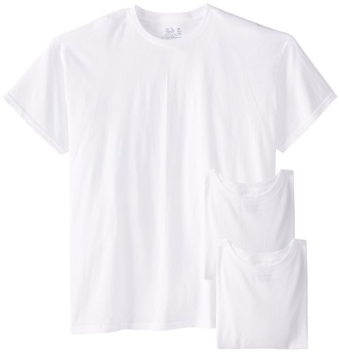 Fruit of the Loom Men's 3-Pack Big Size Crew T-Shirt, White, 5XB (Fruit Of The Loom Tall Crew)