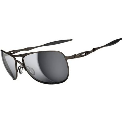 Oakley Mens Titanium Crosshair Sunglasses, Pewter/Black Irid Polar, One Size