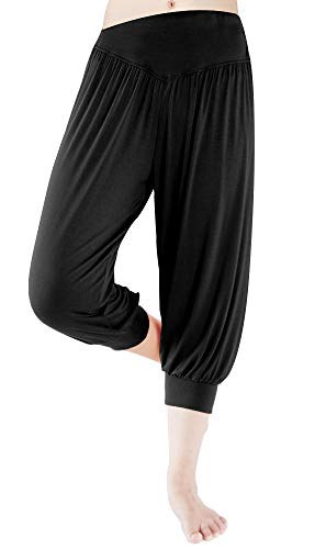 fitglam Women's Harem Capri Pants Comfy Cropped Yoga Jogger Workout Lounge Pants