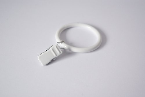 Clips Anneaux pour Rideaux Voile/30 mm (Blanc)
