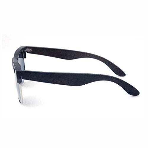 Color Marco Efecto de de duplicado Madera polarizadasDos 5 Dos 1 TP de Madera de de Gafas Brillo Tonos Sol vwBa7