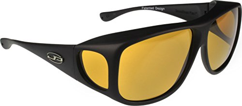 Fitovers Eyewear - Aviator Collection Designed to Be Worn Over Aviator or Large Prescription Eyewear Not Exceeding 148mm X 53mm - Black/polarized - Sunglasses Cataracts For
