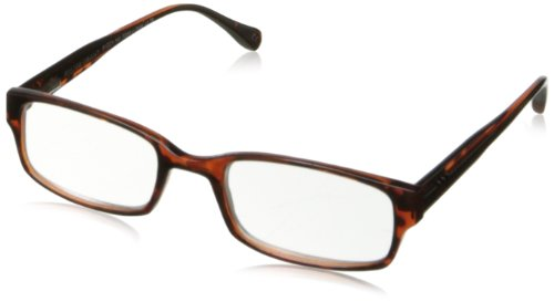 Foster Grant Mens Slade Rectangular Reading GlassesTortoise51 mm 2.5