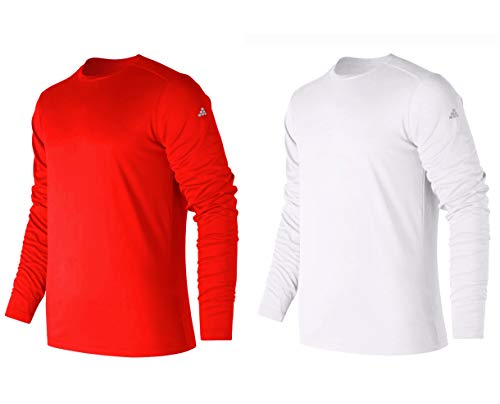 12b8b5ec86dd0 TEXFIT Men's 2-Pack Active Sport Long Sleeve Shirts with Quick Dry Fabric (2