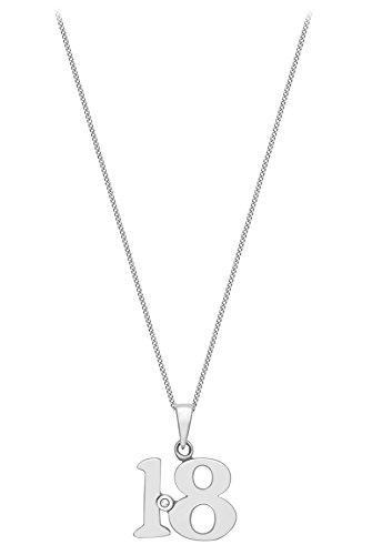 Carissima Gold - Collier avec pendentif - Or blanc 9 cts - Diamant 0.004 cts - 46 cm - 5.44.5124