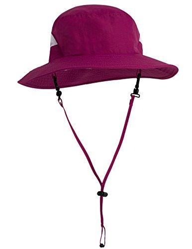 - Tuga Adult Unisex Playa Bucket Hat (UPF 50+), Cranberry, Adult Unisex Medium
