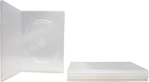 5 Slim Clear Single DVD Empty Replacement Boxes with Wrap Around Sleeve #DVBR07CL (7mm) - Slimline Single Dvd Case
