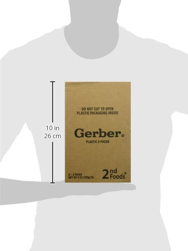 Gerber 2nd Foods Pear Pineapple, 4 oz Tubs, 2 Count (Pack of 8)