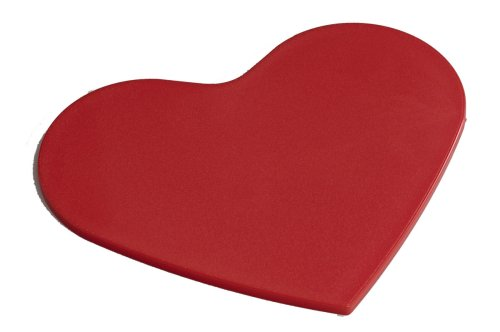 Linden Sweden-Daloplast Polythene Red Heart Cutting Board, 8-3/4 by 7-1/4 Inch