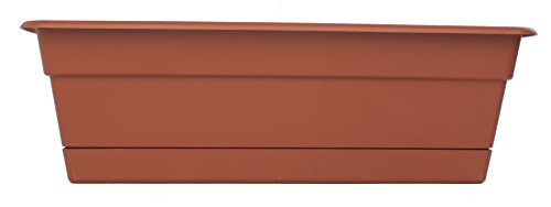 (Bloem DCBT24-46 Dura Cotta Plant Window Box, 24-Inch, Terra Cotta)