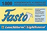 Lighthouse brand Fasto folded stamp hinges - 1000 per package - new
