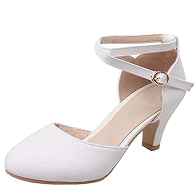 COOLULU Womens coolu-HX-W1-MN Closed-Toe White Size: 4