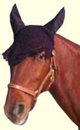 (Intrepid International Fancy Ear Nets for Horses, Black)