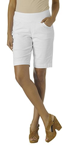 Jag Jeans Women's Ainsley Pull On Bermuda Short, White Denim, - White Hottest Women