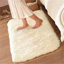 RE 1pcs 80cmx120cm Super Soft Solid Color White Carpet Floor Rug Living Room