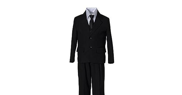Amazon.com: Niños traje negro con negro corbata en bebé para ...