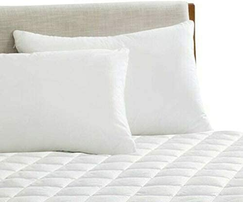 ARITRADERSLTD 100% Cotton 40cm Extra Deep Breathable Quilted Mattress Pad Protector Cover Hotel Quality - Superking Size