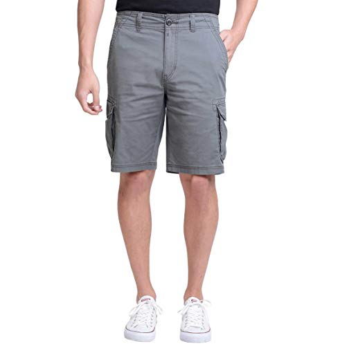 Double Cargo Pocket Short - Unionbay Montego Cargo Shorts for Men Assorted Colors and Sizes - Comfort Stretch (40, Gray)