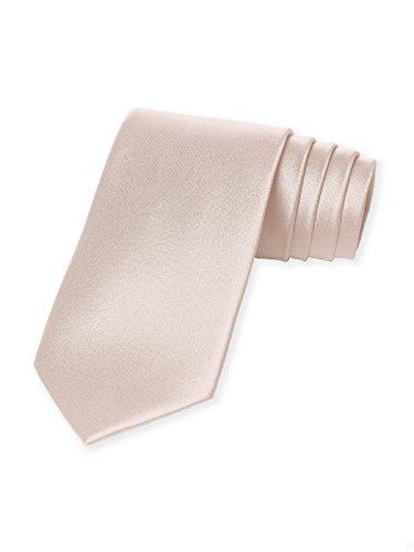 [Men's Matte Satin Neck Tie by Dessy - Blush] (Satin Mens Necktie)