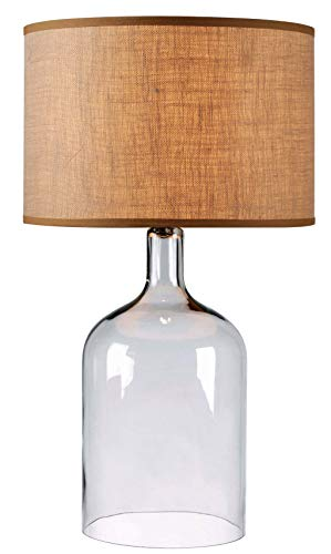 Kenroy Home 32261CLR Capri Table Lamp, Clear Glass FinisH , 31