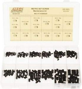 JumpingBolt 375 Pieces, M3x3 to M8x16mm Screw, Steel Set Screw 3 to 16mm. Material May Have Surface Scratches