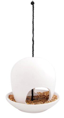 1W Hanging Ceramic Birdfeeder, White ()