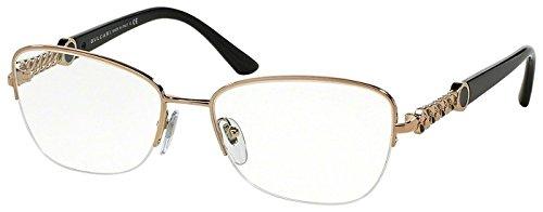 Bulgari Montures de lunettes 2182 Pour Femme Brown, 53mm 376: Pink Gold