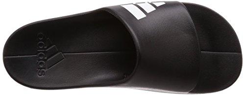 adidas Men's Aqualette Cloudfoam, Black/White, 9.5 M US