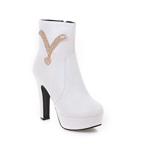 Balamasa Vrouwen Casual Platform Comfort Urethane Boots Wit