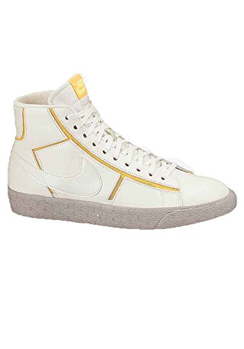Nike Blazer Mid Cut Out Premium Women's Shoes Sail/Atomic Mango/Medium Orewood Brown 644407-100 (SIZE: 6.5)