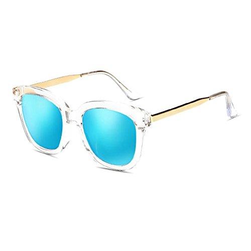 Transparent al de de WLHW resina libre marco coloridos Transparent Color conducción gafas UVB400 gafas UV frame femeninas sol sol coreanas white blue frame Gafas de aire white blue polarizado UVA Fq5qwTrZ