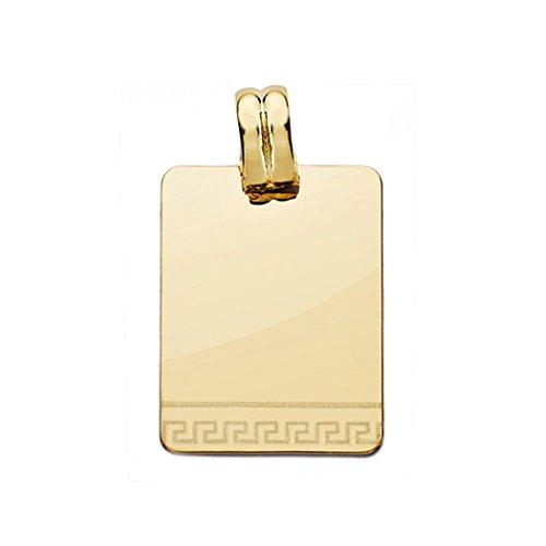 18k Pendentif en or laser plaque de 24mm. [AA0539]