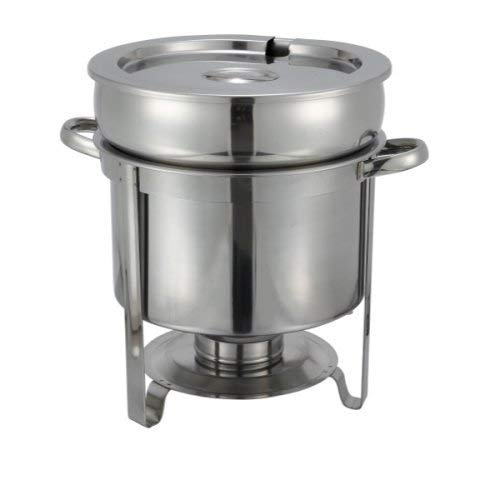 Winco 211, Medium, Stainless - 7 Quart Soup Warmer