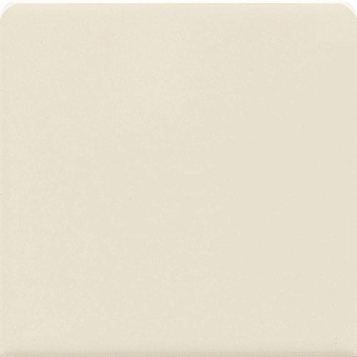 Dal-Tile Semi Gloss Almond 6 In. x 6 In. Bullnose Glazed Ceramic Wall Tile (Almond Flooring Tile Gloss)