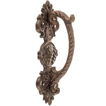 Aunt Chris' Products - Door Handle with Lion Face - Heavy Rustic Cast Iron - Victorian Design - Barn Handle, Gate, Pull Shed, Door Handles, Ect. - Use Indoor Or (Bronze Victorian Door)