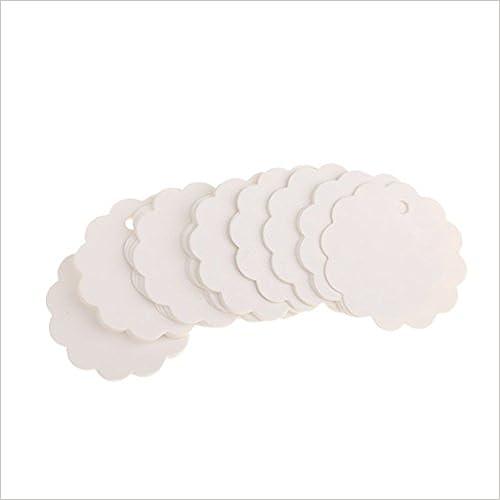 100 unidades tarjetas de regalo de papel kraft Etiquetas de regalo color blanco//flor