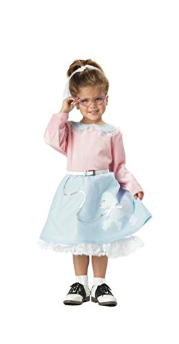 [POPLife Grease 50's Poodle Cutie Toddler Costume - Pink & Blue] (Witch Pretty Pink Toddler Costumes)