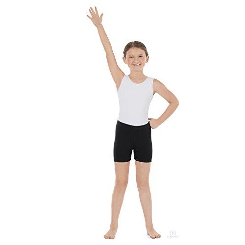 Eurotard Child Mid-Thigh Tights (10262) -BLACK -L by Eurotard