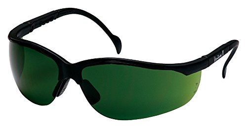 Pyramex Venture Ii Safety Eyewear, 3.0 Ir Filter Lens With Black Frame