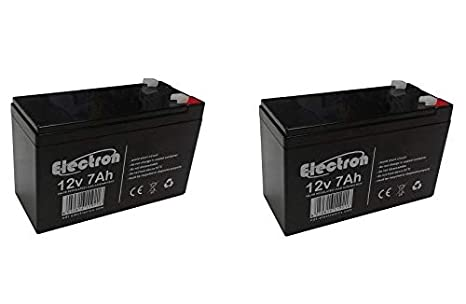 2x batteria al piombo ricaricabile 12v 7ah 20hr per allarmi