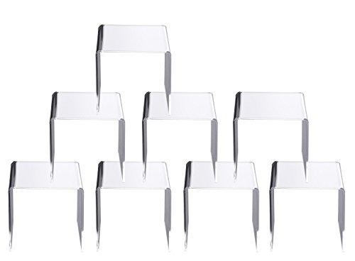 Jusalpha Clear Acrylic Riser Stand Lot of 8 (5x5x5 Inches) ()