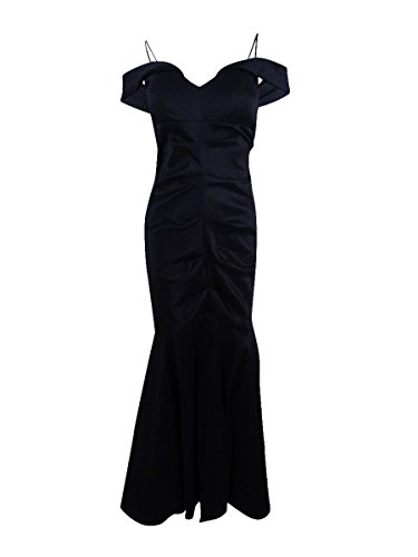 Xscape X Women's Off-The-Shoulder Ruched Mermaid Gown (10, Black)