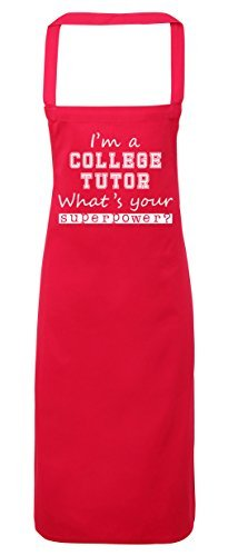 Unique I'm a College Tutor what's your superpower? Apron kitchen cooking painting DIY onesize adult