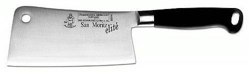 Messermeister San Moritz Elite Stainless Steel Cleaver, Black, 6-Inch by Messermeister