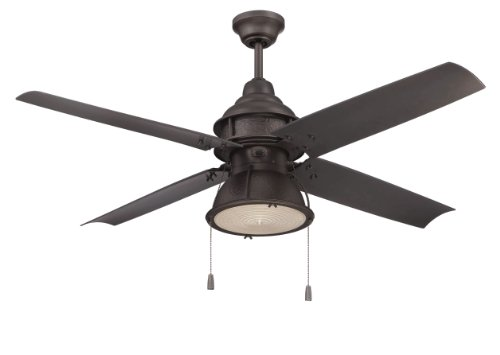 Pull Espresso Bronze (Craftmade PAR52ESP4 Port Arbor, Espresso 52 inch Outdoor 4 blade Ceiling Fan with Light, Wet Rated)