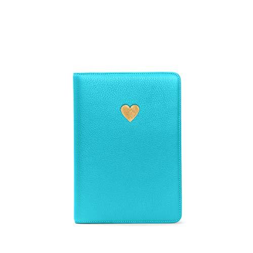 (Heart Journal - Full Grain Leather - Teal)